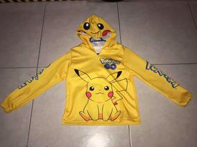 Chamarra Sudadera De Pokemon Pikachu Talla 4 Niño
