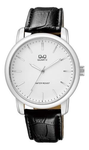 Reloj Qyq Q868j301y Cuero Para Caballero Original