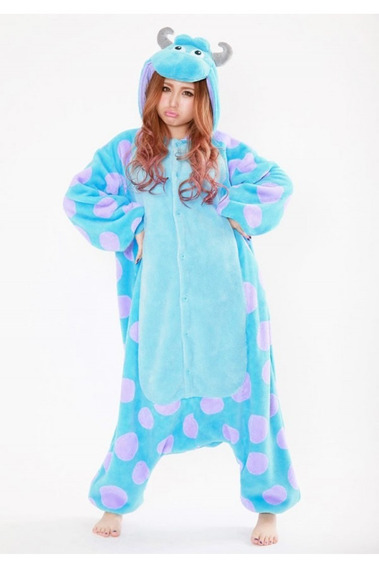 Monsters Inc Sullivan Pijama Kigurumi Mameluco Cosplay