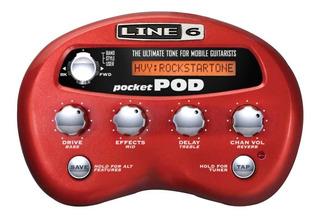 Line 6 Pocket Pod Procesador De Amplificador De Guitarra