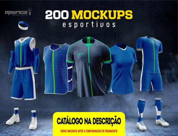 Mockups Esportivos - Camisas, Shorts E Uniformes