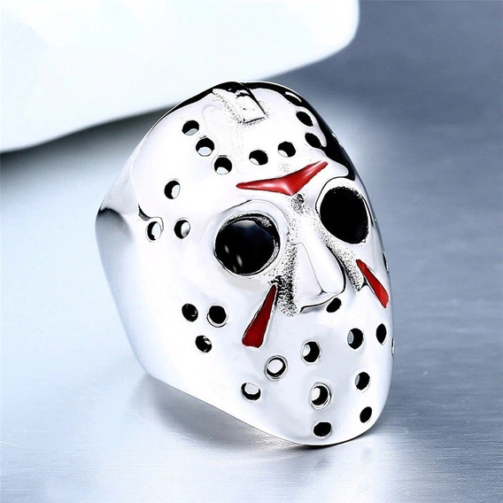 Anel Jason Sexta Feira 13 Aço Inox Moda Cospley Halloween