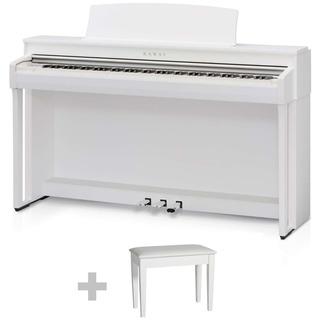 Piano Electrico 88 Notas Con Mueble Y Banqueta Kawai Cn37 W