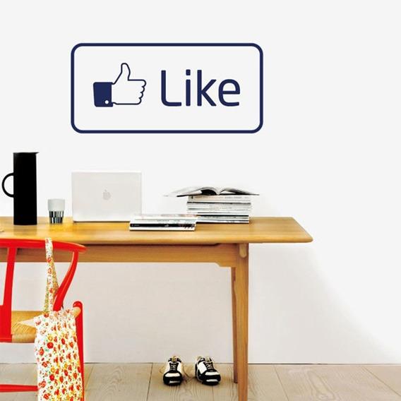 Vinil Decorativo Pared Like Facebook 60 Cm X 29 Cm