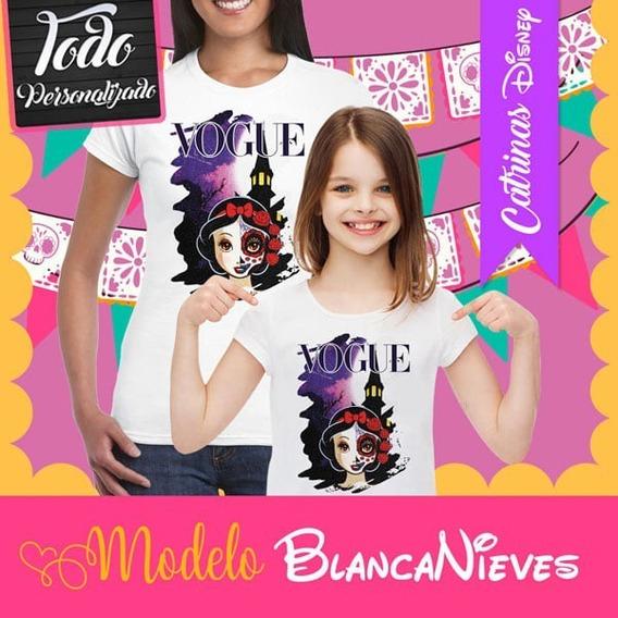 Playera Catrina Princesa Disney Blancanieves