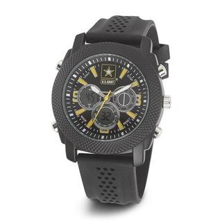 Reloj Us Army C21 Esfera Negra / Amarilla Y Correa De Cauch