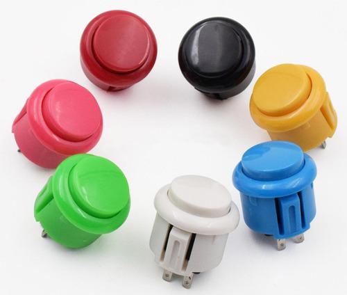 Boton Pulsador Arcade 24mm Push Varios Colores
