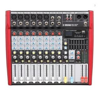 Consola De Sonido Potenciada E-sound Mpx-802p