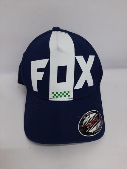 Gorra Fox Con Logo En Vinil Blanco