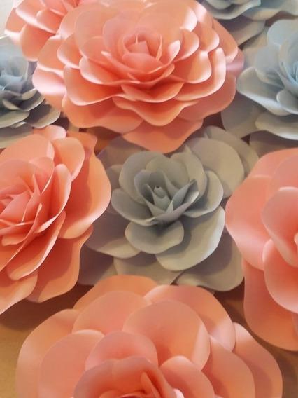 Flores Gigantes De Papel Cumpleaños, Casamientos, Baby Deco
