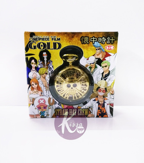 One Piece Film Gold Reloj De Bolsillo Original