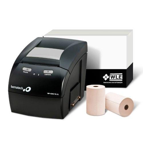 Kit Impressora Mp-4200 Th Fi Bematech E Bobina 80x40