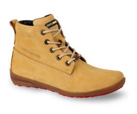 Bota Corta Para Dama Swiss Brand Amarillo