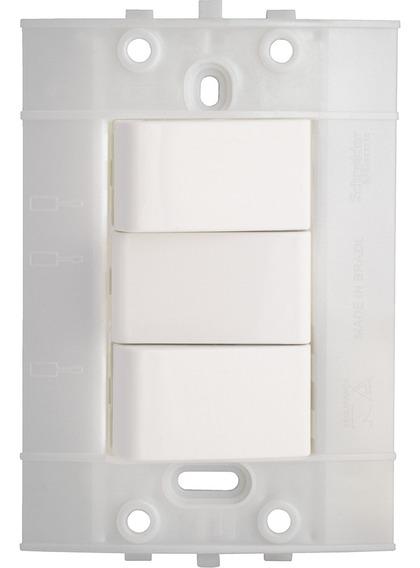 Interruptor Conmutable Doble Decor 10 A 250 V Blanco 3 Vías