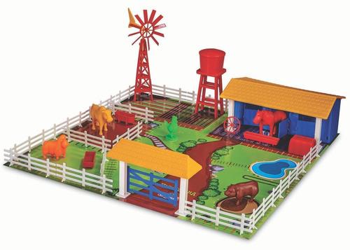 Fazendinha Brinquedo De Monta Adijomar Com Animais 3 Anos