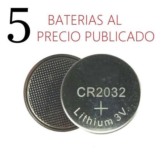 Bateria Pila Cr2032 3v Plana Boton Pc Reloj Controles X5
