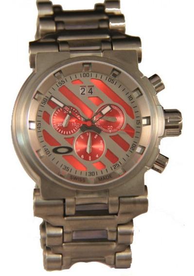 Relógio Oakley Hollow Point - Pulseira De Aço
