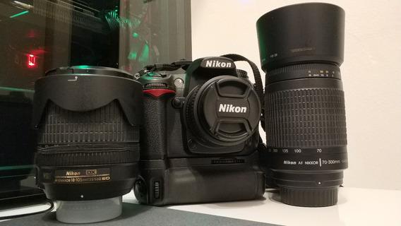 Kit Nikon D7000 + 3 Lentes + Seminova
