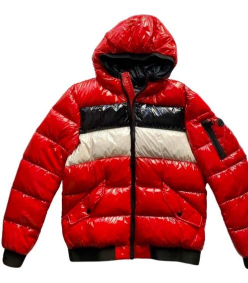 Campera Calvin Klein Pluma Inflable Hombre Roja