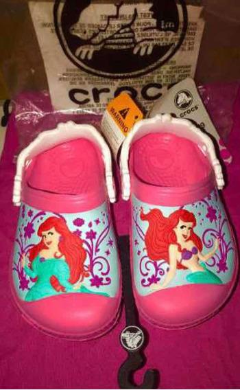 Crocs Disney Princesas La Sirenita Originales 8/9 (24/ 25 )