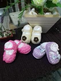 Lindinho Kit De 5 Sapatinhos De Crochê