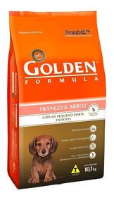 Golden Cães Filhotes Mini Bits Frango Arroz 10kg