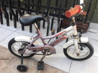 Bicicleta Nena Infantil Con Rueditas