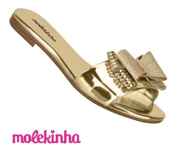 Chinelo Slide Infantil Feminino Glitter Molekinha 2309.219