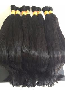 Cabelo Humano Mega Hair 75 Cm 100g Liso Brasileiro