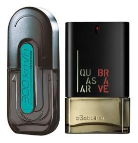 Perfume 300km Intense Avon + Perfume Quasar Brave Boticário