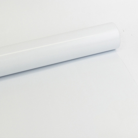 Adesivo Papel Laca Para Móveis Alto Brilho Branco 0,61m
