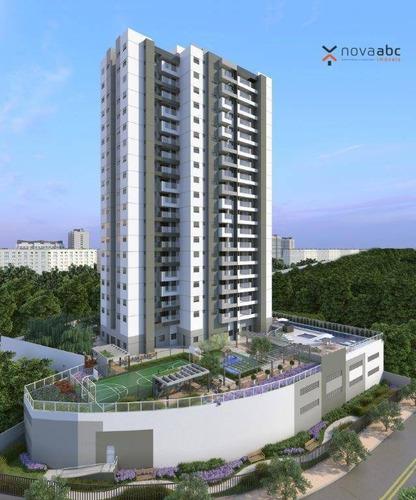 Apartamento Com 2 Dormitórios À Venda, 62 M² Por R$ 482.000 - Vila Assunção - Santo André/sp - Ap1719