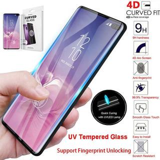 Película De Vidro Cola Líquida Uv Galaxy S10 Plus ( S10+ )