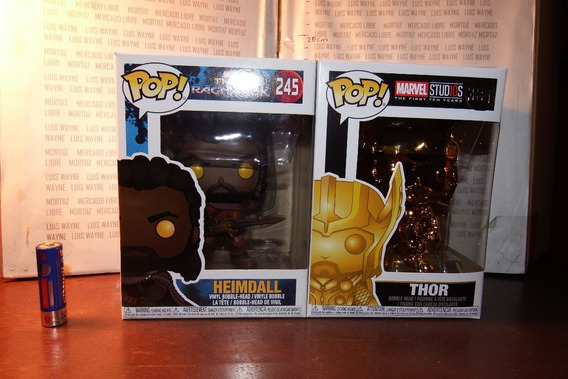 Figuras Funko Pop Thor Heimdall Gold Oro Avengers Marvel