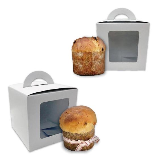 Cajas Para Mini Pan Dulce Pack 50 U C/cuna Y Visor