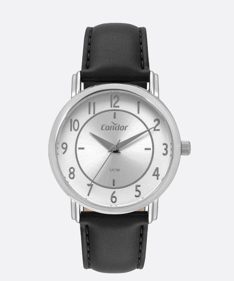 Relógio Condor Masculino Preto Couro Co2035mry/2k