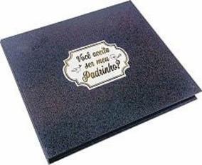 Caixa Rígida Com Álbum Padrinho Jeans
