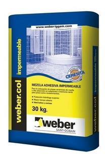 Pegamento Weber Impermeable X 30kg Con Ceresita