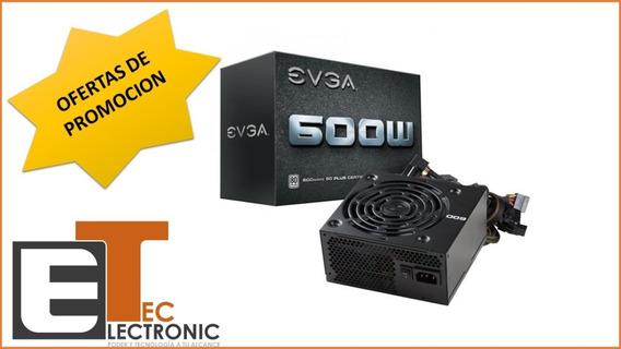 Fuente De Poder Evga 600w Certificada 80+ Plata