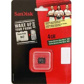 Cartão De Memória Micro Memory Stick M2 Sandisk 4gb 7mbs