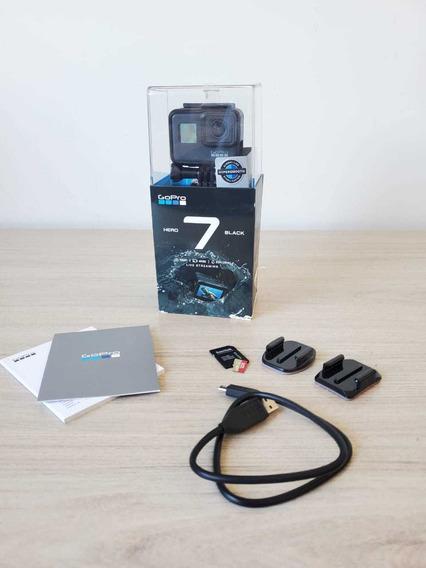 Gopro Hero 7 Black + Cartão 32gb + 4 Baterias + Acessórios