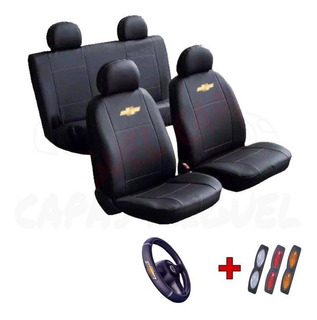 Capa Banco Carro Couro Courvin Chevrolet Celta 2012 4 Portas