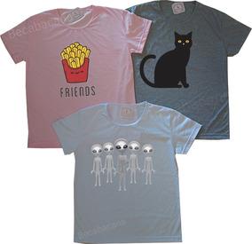 Kit 3 Camisetas Feminina Roupa Barata Atacado Promoção!