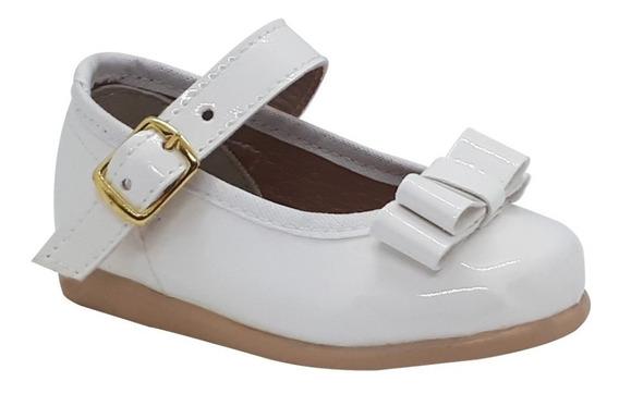Zapato Guillermina Bautismo/comunión/fiesta Bebe Nena Blanco