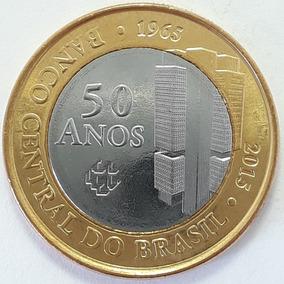 Moeda 1 Real 2015 Bc 50 Anos Banco Central Fc Nova Rara