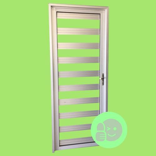 Imagen 1 de 2 de Puerta Exterior Aluminio Y Vidrio