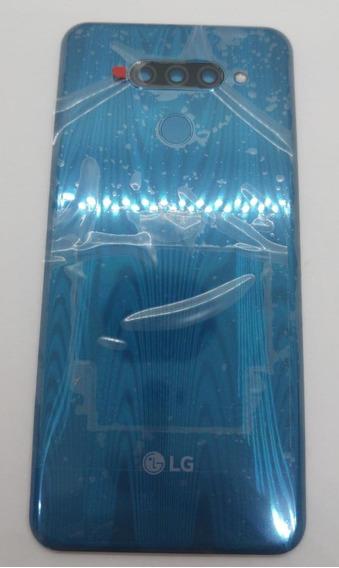 Tampa Bateria + Lente Camera Flash Lg Lm-x525 Q60 Azul