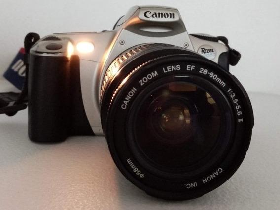 Cámara Fotográfica Canon Eos Rebel + Accesorios