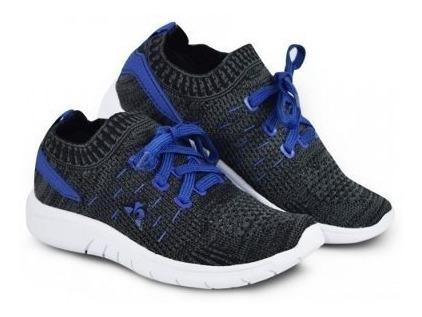 Zapatillas Le Coq Sportif Niño Pied - Gris/azul -