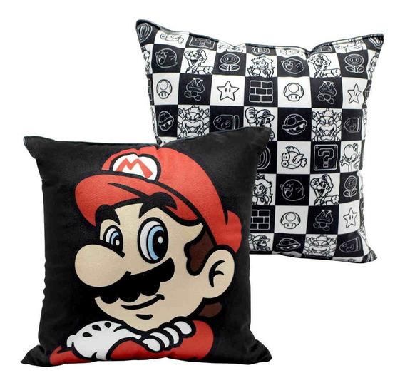Almofada Super Mario Wb Oficial 25x25 Decorar Nintendo Games